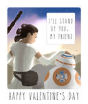 Star Wars 7 Valentine Card (Rey and BB-8)