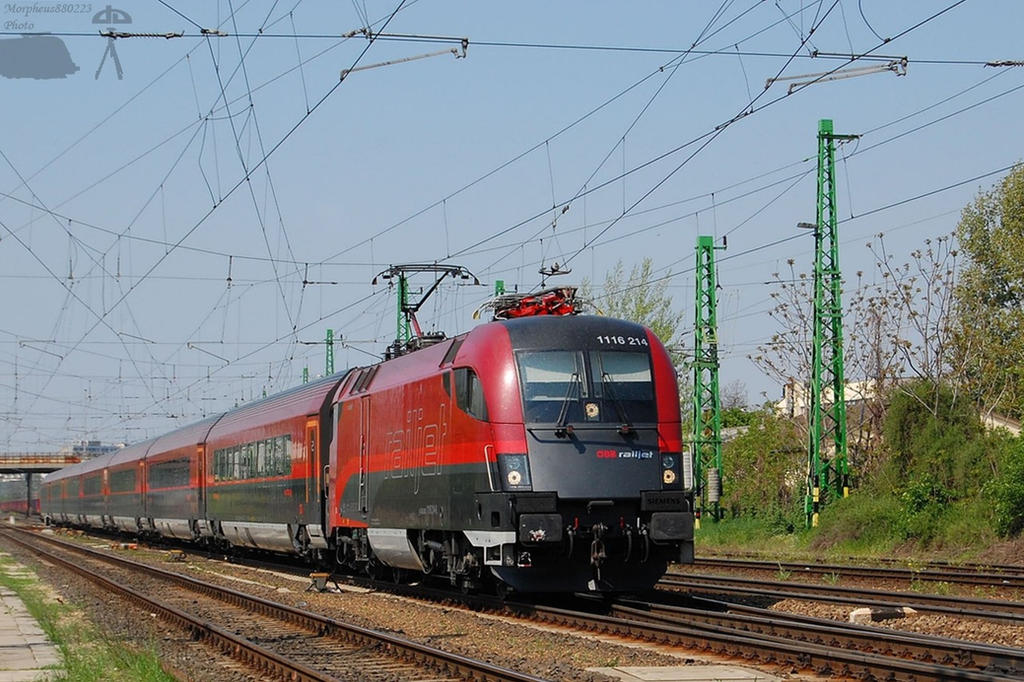 1116 214 Railjet in Gyor -2011 by morpheus880223