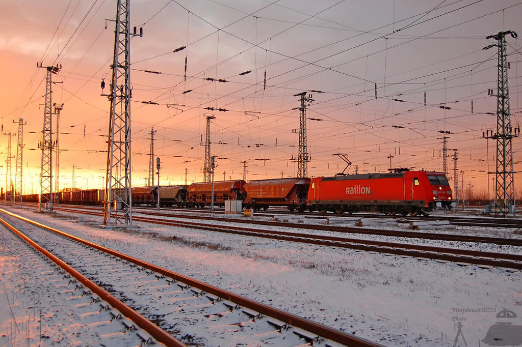 185 207 'DB Railion' - Hegyeshalom freight station by morpheus880223