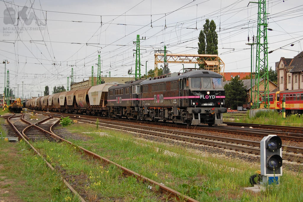 450 005 and 450 001 with freight in Gyor by morpheus880223