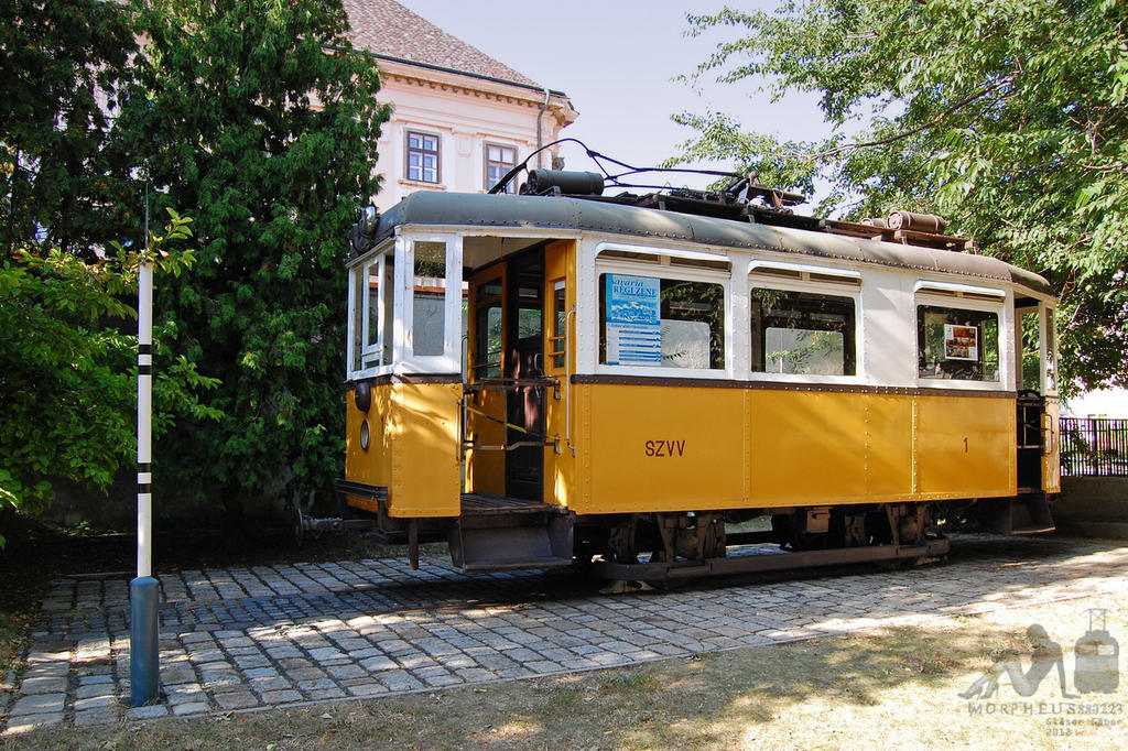 Old tram in Szombathely by morpheus880223