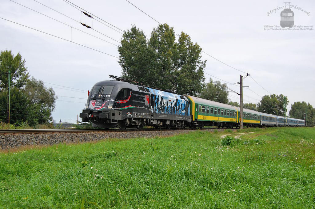 470 505 with an IC train near Gyor -2014- by morpheus880223