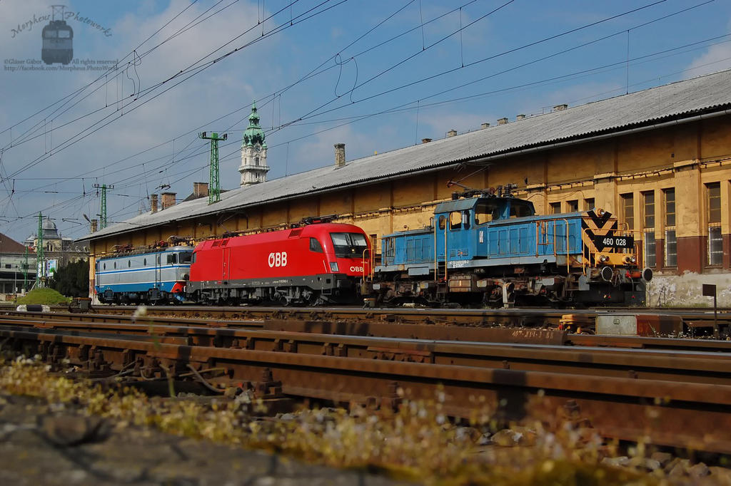 Locos resting in Gyor station by morpheus880223