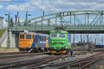 60 0840 and 242 543 in Komarom station - 2017 by MorpheusPhotoworks