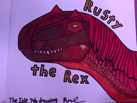 Rusty the Rex - The Isle 7th Drawing