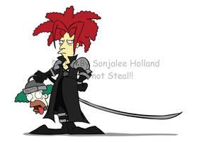 Sideshow Bob as Sephiroth by LaTopazora