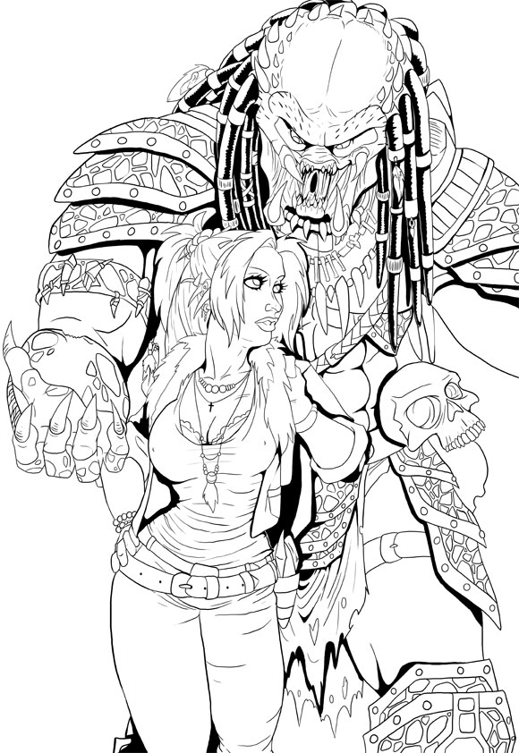 Ink Practice: Cargo and Astrid by LaTopazora