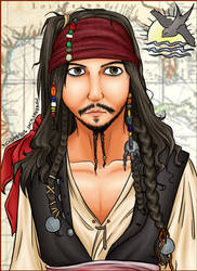 CAPtAiN jACK SPARROW by pichu4850