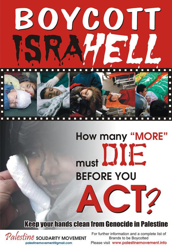 Boycott Israel Poster by iqbalgauhar