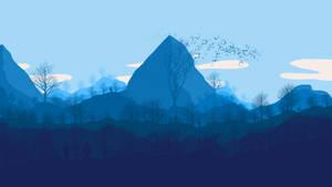 Flat art: The Mountains