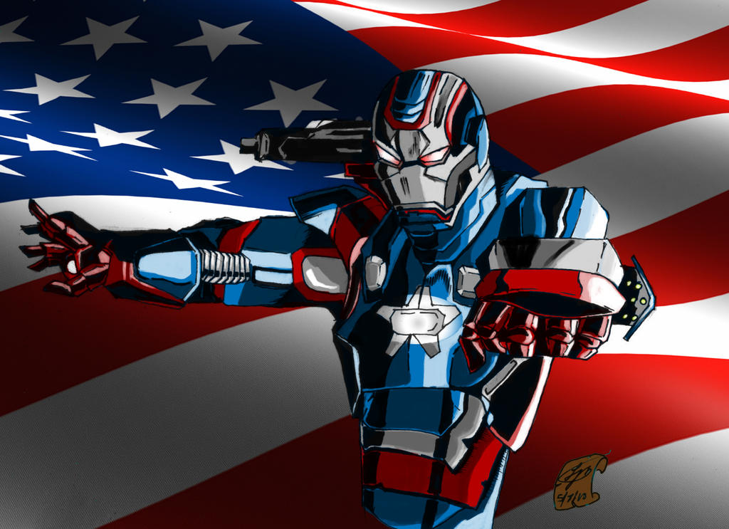 Iron Patriot Comic Iron Patriot Colored by