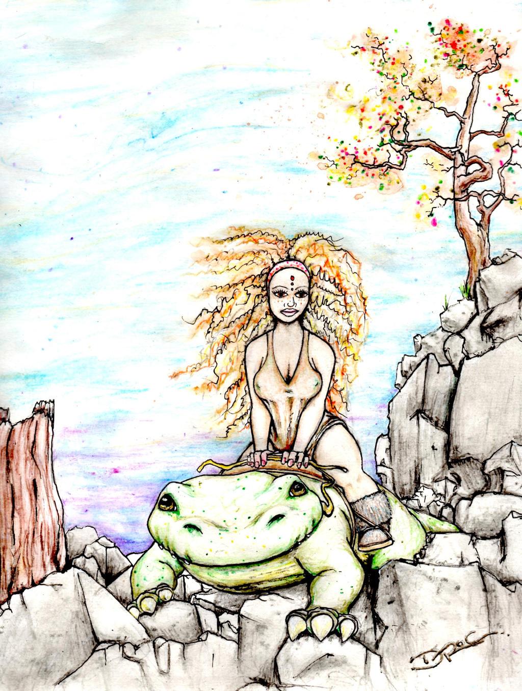 riding the krokopona by DrocMacnamara