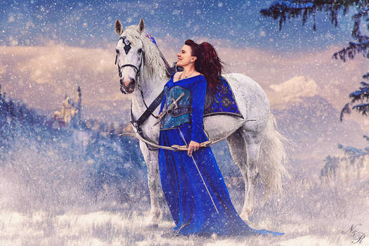Winter Hunt - Lady And Her Steed