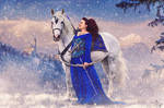 Winter Hunt - Lady And Her Steed by Lady-Akyashaa