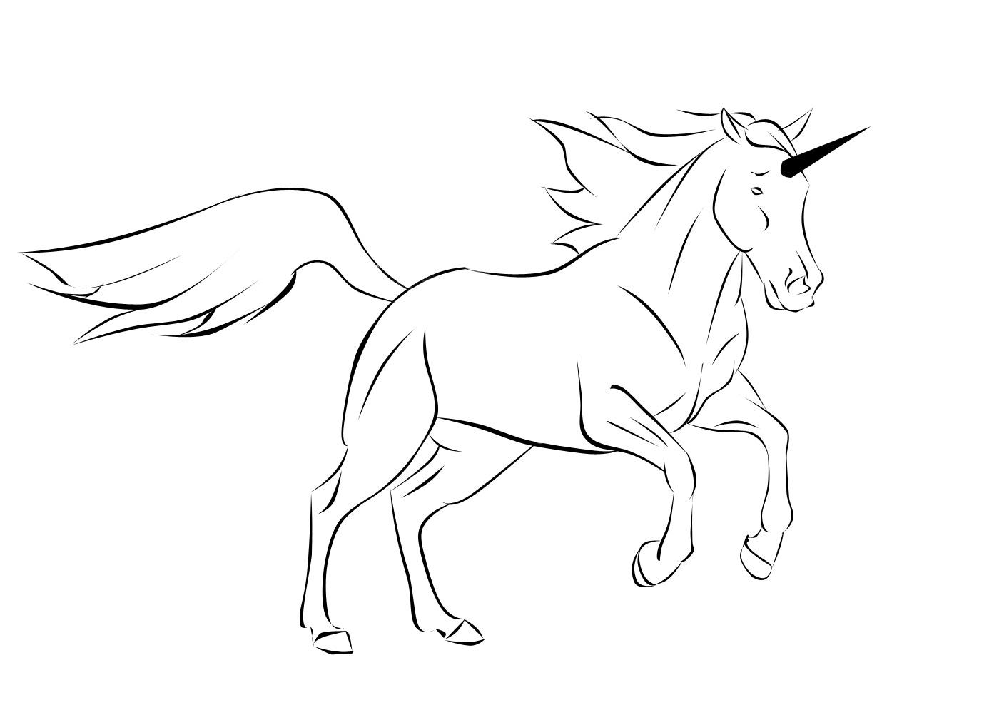 Line Art Unicorn : Unicorn lineart by lady akyashaa on deviantart