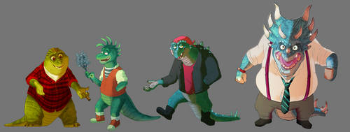 Dinosaurs by sasskatrina
