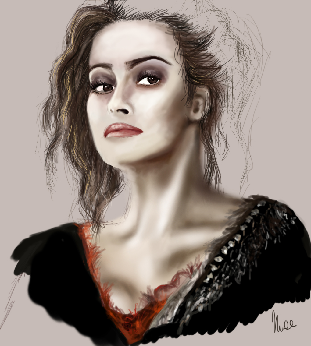 Helena Bonham Carter WIP by RecklessPadfoot on DeviantArt Helena Bonham Carter