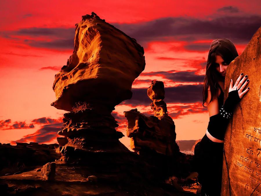 desert sunset by sometimesnooneknows