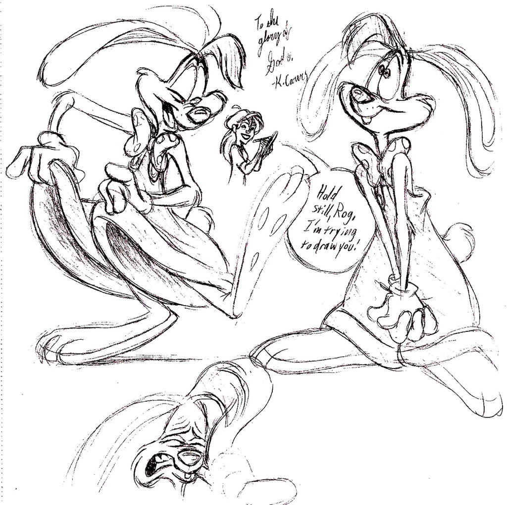 roger rabbit sketches by cartoonkate on deviantart