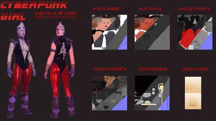 Cyberpunk girl Wireframe by kdoyle9