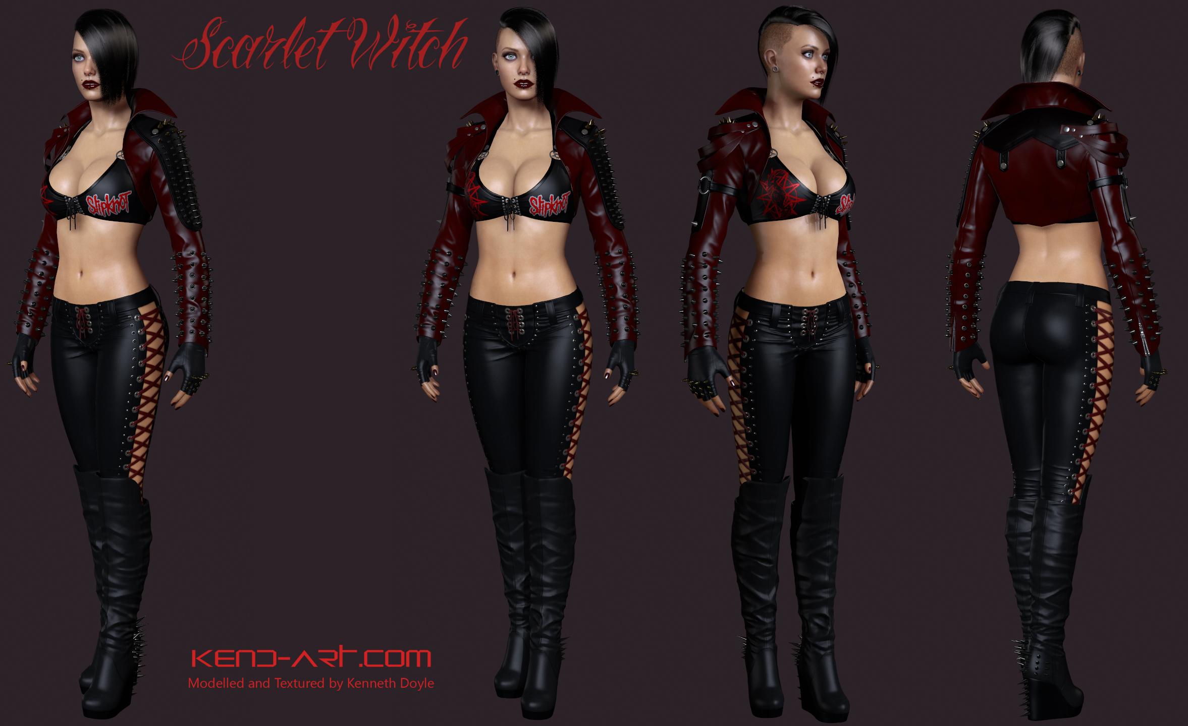 Scarlet Witch Full Body by kdoyle9