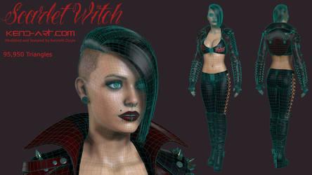 Scarlet Witch Wireframe by kdoyle9