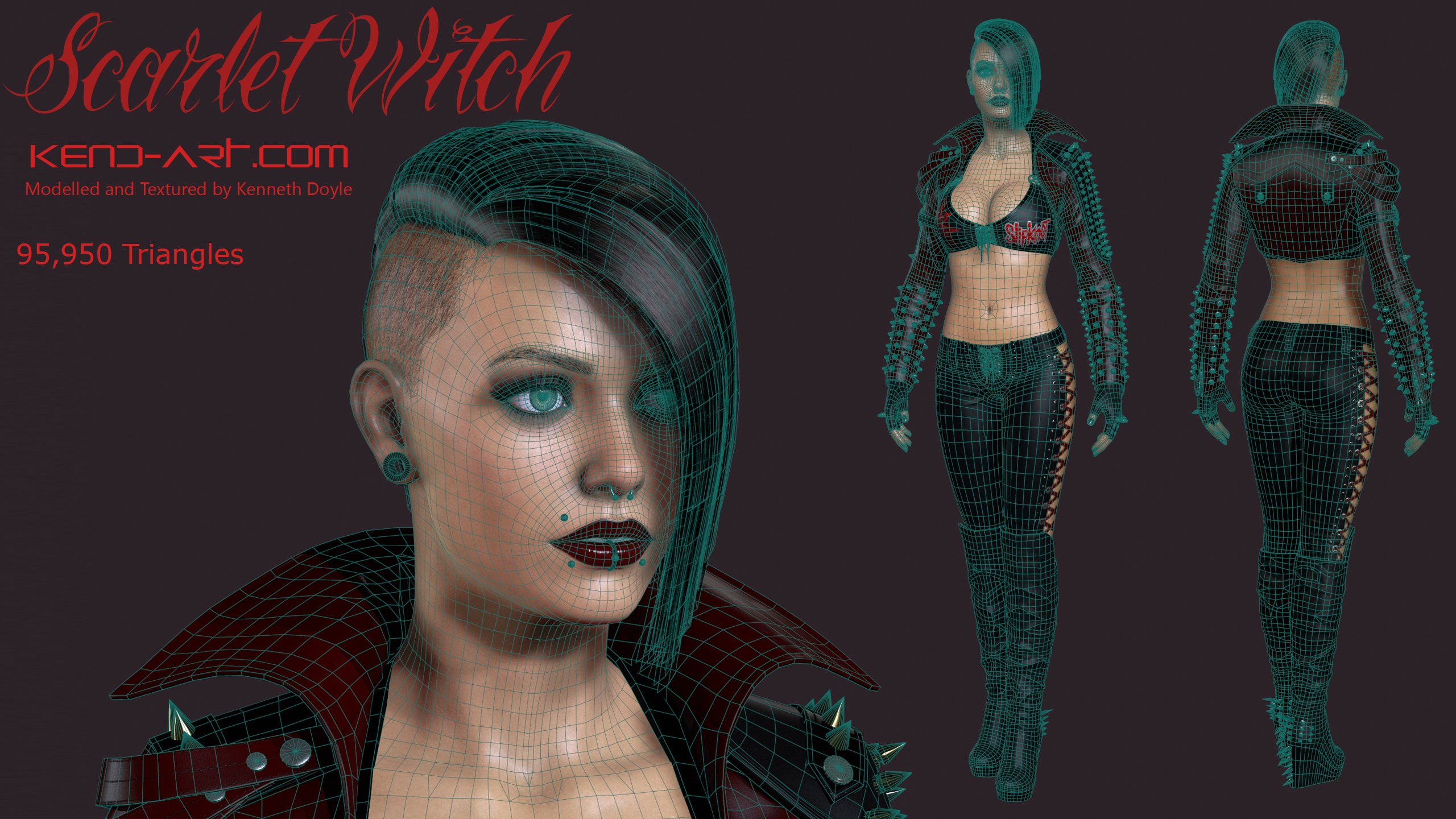 Scarlet Witch Wireframe by kdoyle9