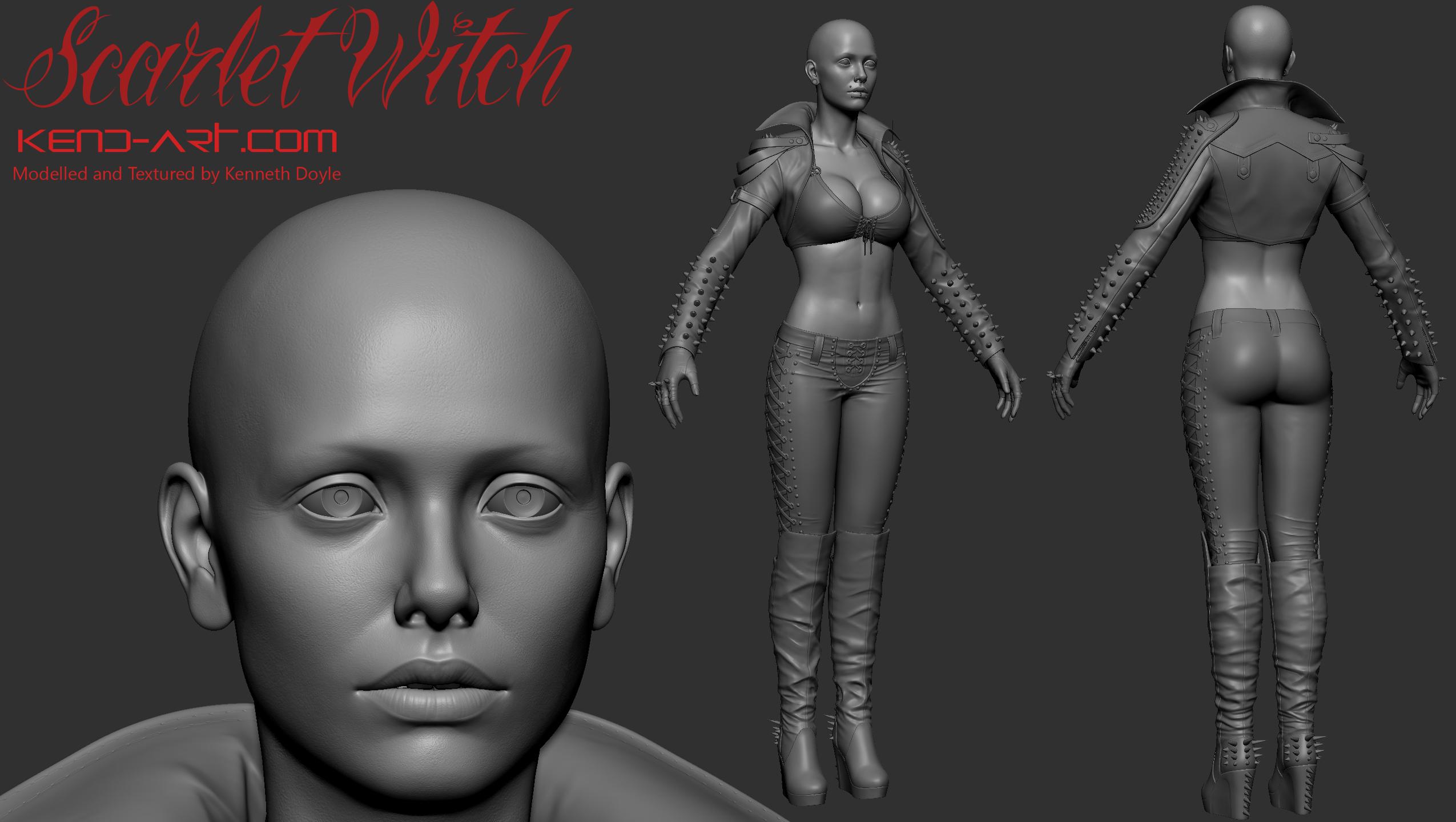 Scarlet Witch Zbrush by kdoyle9