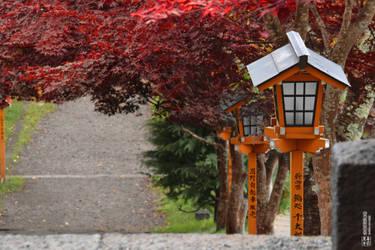 Entrace of the Arakura Sengen Shrine by Haru-no-kurohitsuji