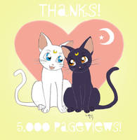5,000 Pageviews by ArtsyMaria