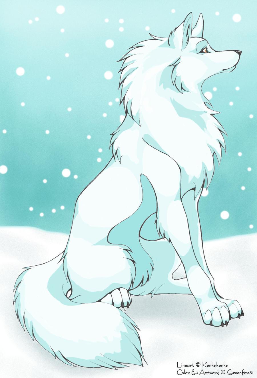 snow wolf by artsymaria snow wolf by artsymaria