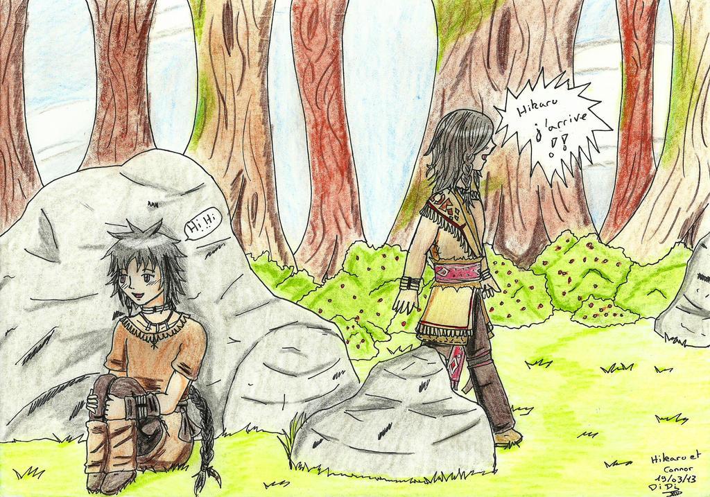Connor et Hikaru enfant by gallyfylbers