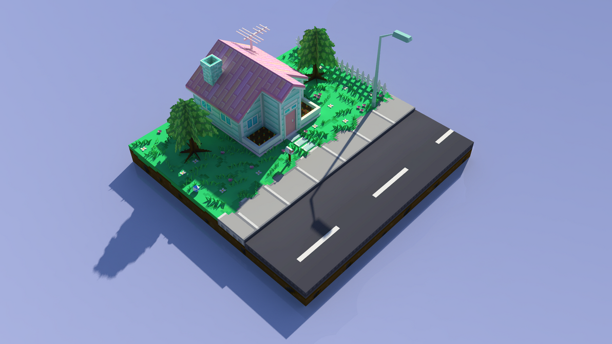 LowPolyHouse_A by wesai