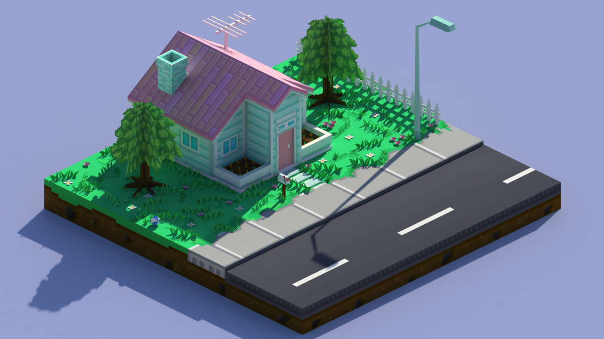 LowPolyHouse_A_Isometric by wesai