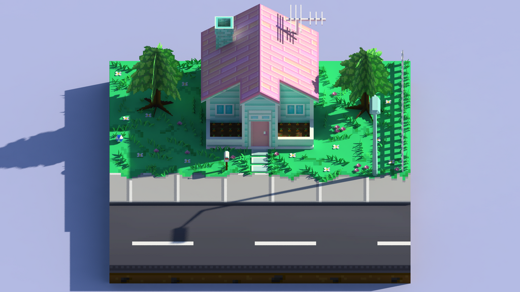 LowPolyHouse_A_Front by wesai