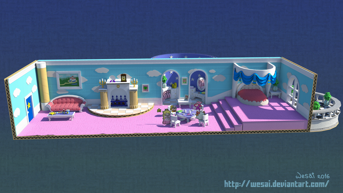 Paper Mario - Princess Peach's Tea Party by wesai