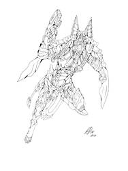 Anubis line art