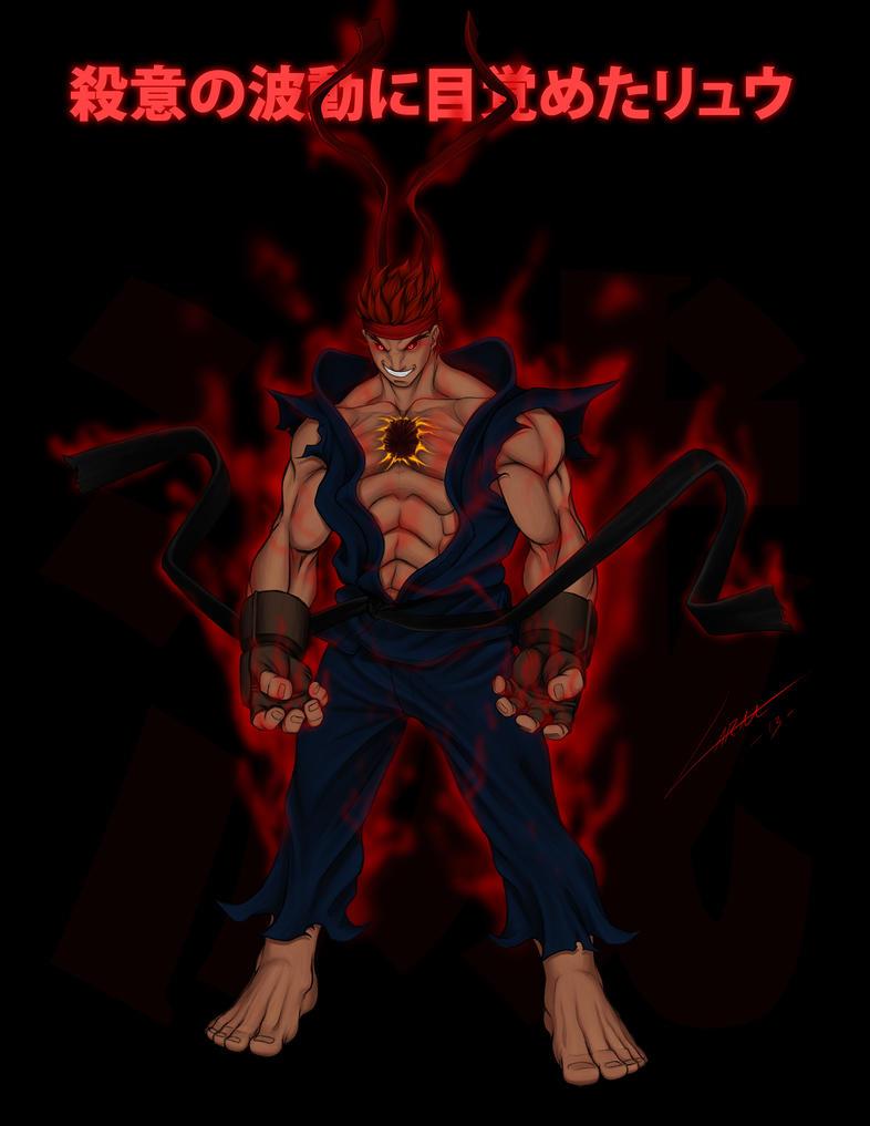 Evil Ryu by LuisLarm