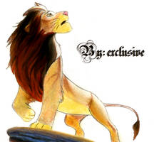 The King Simba draw dibujo by exclusivebritneyfan