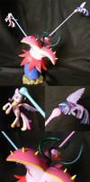 Twilight and Cadance vs the Tatzlwurm