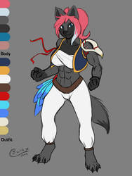 Atheress: Outfit Design And Colors by Blizzmaster