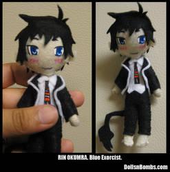 Rin Okumara Tiny Plushie by DeadEndSeid