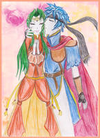 Ike X Elincia by X-Tidus-kisses