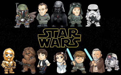 Star Wars Chibi Line-Up by masterbarkeep
