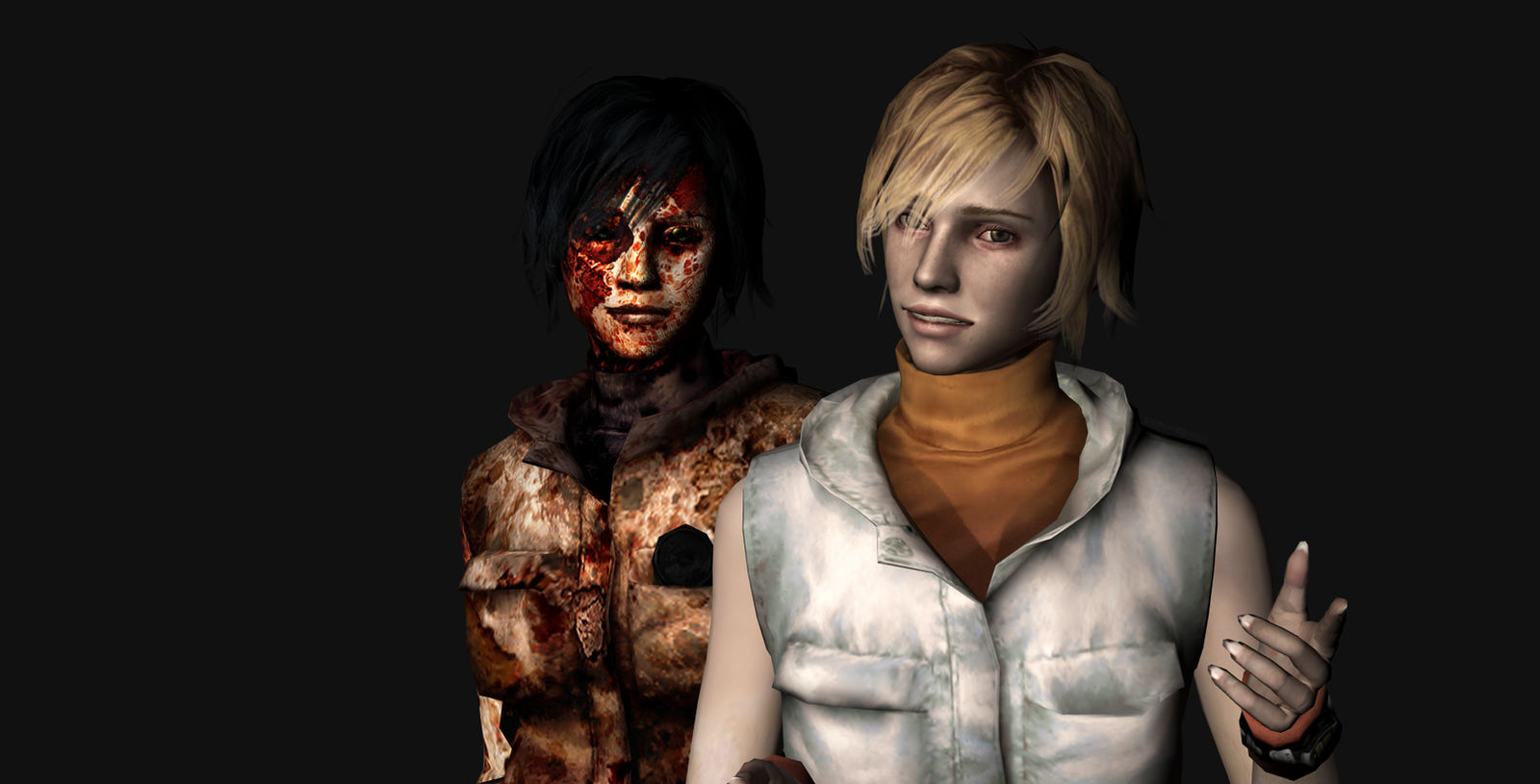 Silent Hill 3 Cheryl And Alessa Export Render 2 By Darkreign27 On Deviantart