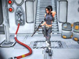 Shadowrun: Ork Female by obidancer