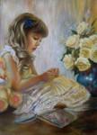 Little girl by pamslaats