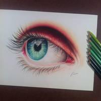 Eye study by pamslaats
