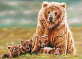Bear study by pamslaats