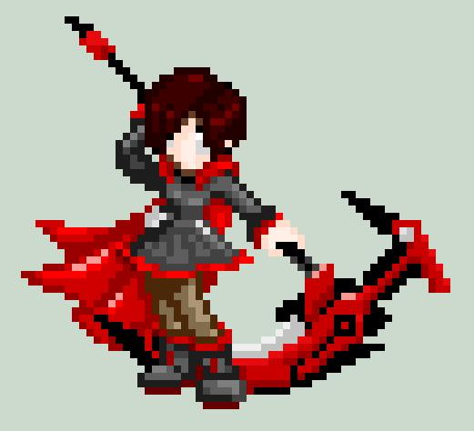 Pixel Ruby Rose By RyuRyugami On DeviantArt